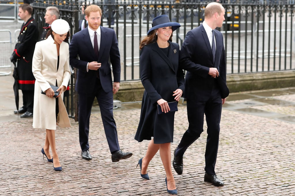 You're Not Seeing Double — Kate Middleton and Meghan Markle Wore Matching Blue Suede Heels