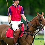 He participated in a polo match in Cirencester, England, in June 2005.