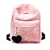 Faux Fur Plush Backpack