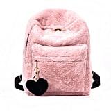 Faux Fur Plush Backpack