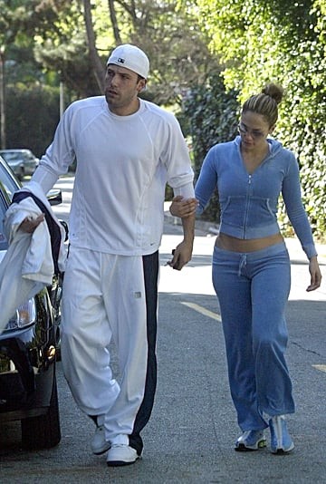 Jennifer Lopez and Ben Affleck Velour Tracksuit Outfit 2003