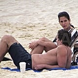 Cindy Crawford and Rande Gerber in Mexico.