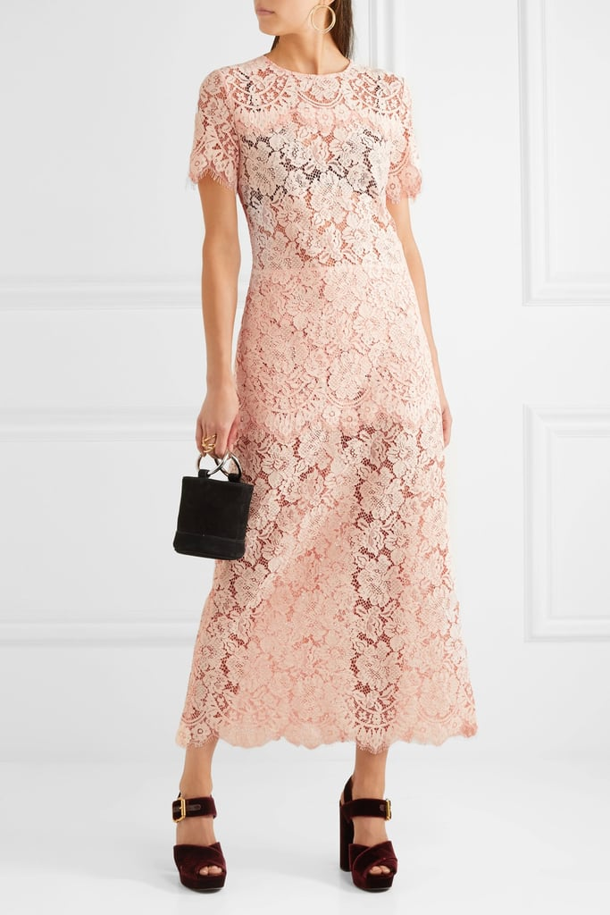 Ganni Duval Corded Lace Maxi Dress, $377.36