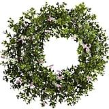 Ivy & Floral Wreath ($58)