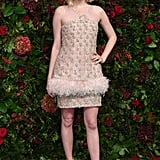 Ellie Bamber at the 65th Evening Standard Theatre Awards