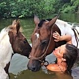 """Baby horse and his mommy,"" Gisele captioned this beautiful picture. Source: Instagram user giseleofficial"