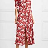 Rixo Katie Floral-Print Crepe de Chine Midi Dress