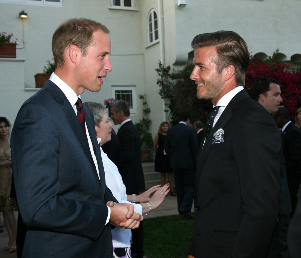 Prince William and David Beckham in LA.