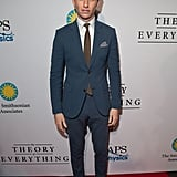 Eddie Redmayne suited up for the Thursday night premiere of The Theory of Everything in Washington, D.C.