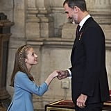 Princess Leonor Receiving the Order of Golden Fleece 2018