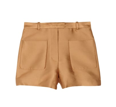 These 3.1 Phillip Lim camel satin shorts ($170, originally $425) are everything. How dope are those oversize pockets?