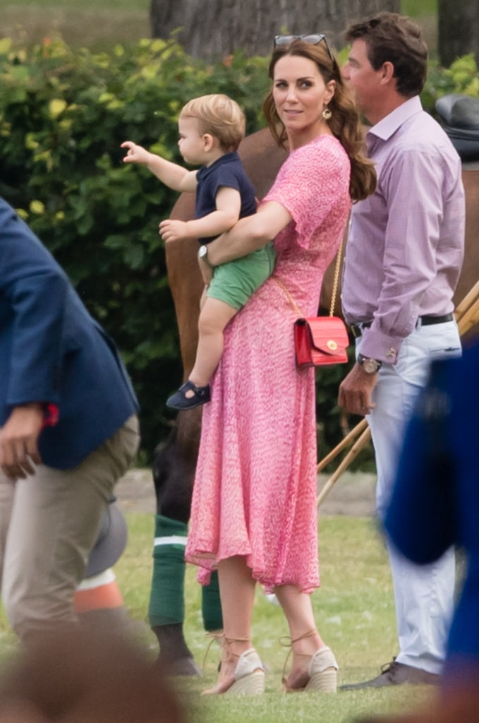 Kate Middleton and Prince Louis at a Charity Polo Match