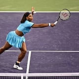 We Loved Her in This Blue Crop Top at the 2016 BNP Paribas Open