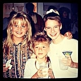 """Andrea: """"Three amigas. I think we were all secretly in the running for 'coolest bangs.' @candacecbure@jodietweetin"""""""