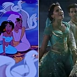 Mena Massoud and Naomi Scott as Aladdin and Princess Jasmine