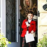 Gwen Stefani and Kingston Rossdale spent the day with her parents.