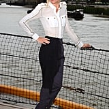 Sienna posed in navy-inspired separates for a photocall in 2009.