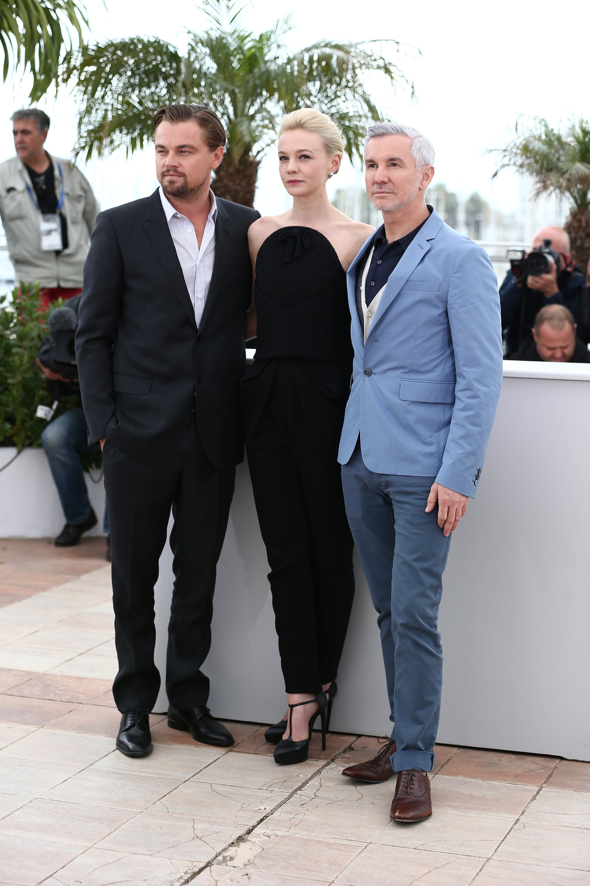 Leonardo DiCaprio and Carey Mulligan joined director Baz Luhrmann for a photocall for The Great Gatsby.