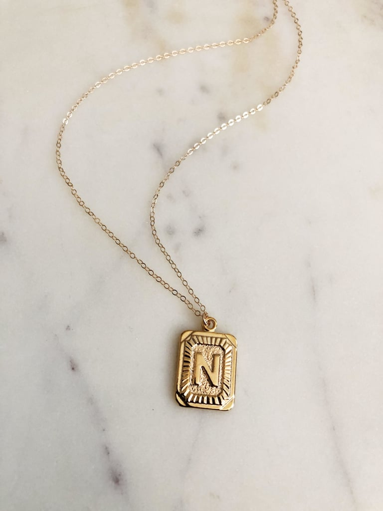 Initial Square Necklace