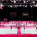 Well-known for hosting musical greats, Wembley Arena has been reborn into a badminton arena.
