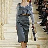 Bella Hadid With Dark Brown Hair at Paris Fashion Week, Spring/Summer 2020