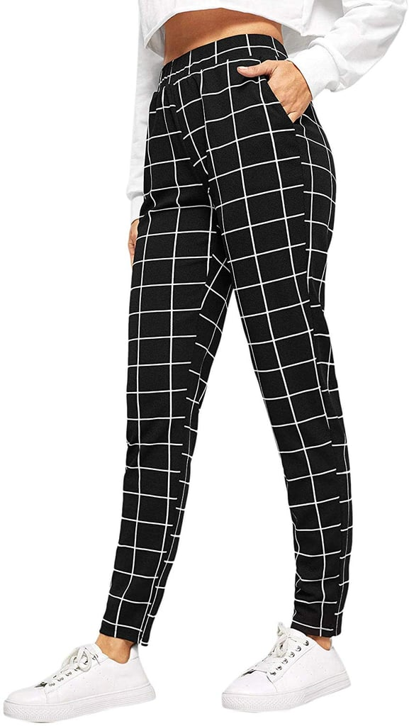 SweatyRocks Casual Plaid Legging Pants