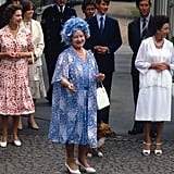 With the Queen Mother, 1980