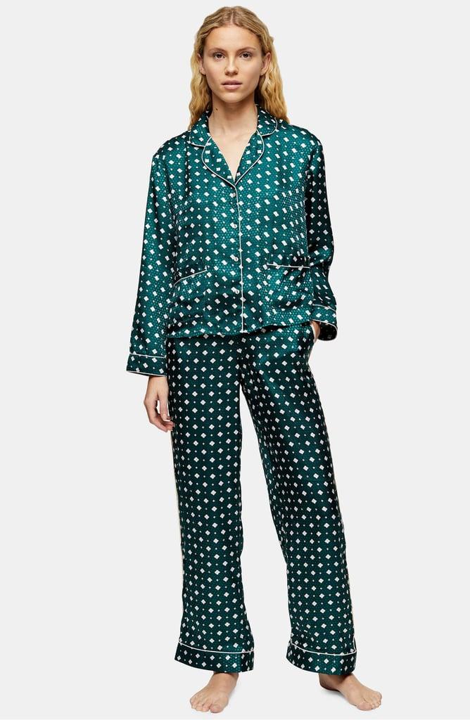Topshop Tile Jacquard Pajama Shirt