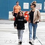Sarah Jessica Parker and James Wilkie Broderick walked through NYC's West Village on their way to his school.
