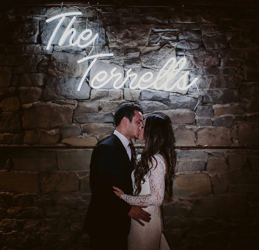 Last Name Neon Wedding Sign