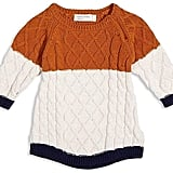 Miles Baby Girls' Color-Block Sweater Dress