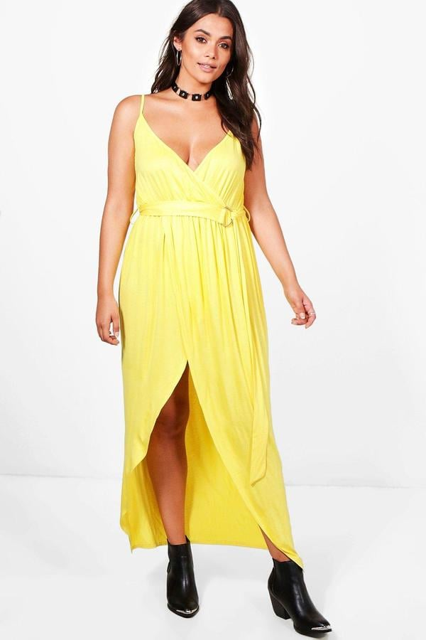 Boohoo Plus Size Erin Jersey Plunge D Ring Maxi Dress Cheap Summer