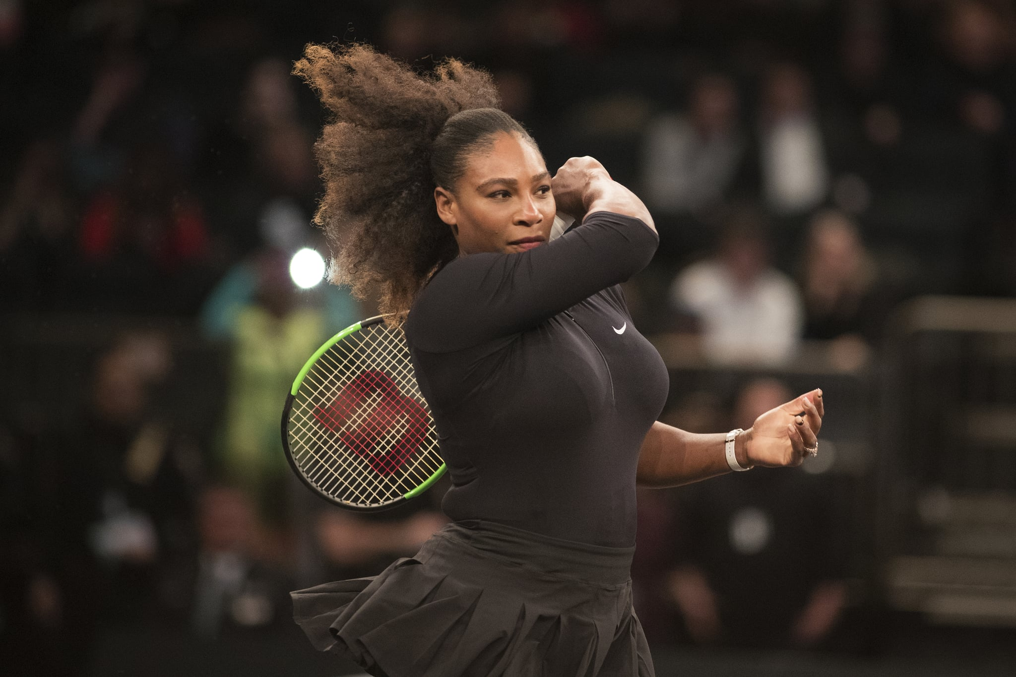 NEW YORK, NEW YORK - MARCH 5: Serena Williams of the United States in action during the Tie Break Tens Tennis Tournament at Madison Square Garden on March 5, 2018 New York City.  (Photo by Tim Clayton/Corbis via Getty Images)
