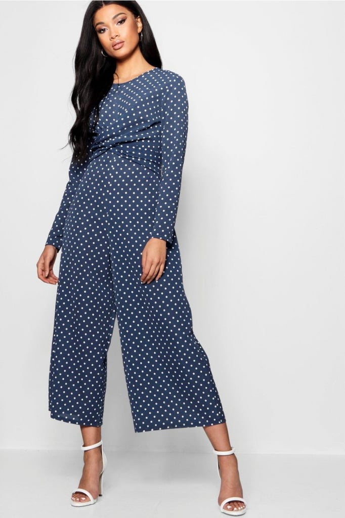 a4f0ab0c6ef Boohoo Polka Dot Wrap Over Jumpsuit