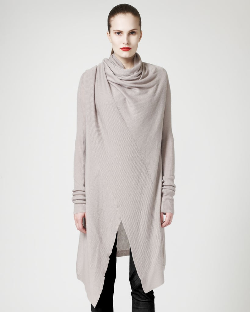 The best part about Rick Owens's sleek poncho sweater coat ($1,040)? You can wear it five ways.