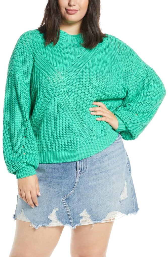 BP. Traveling Stitch Sweater