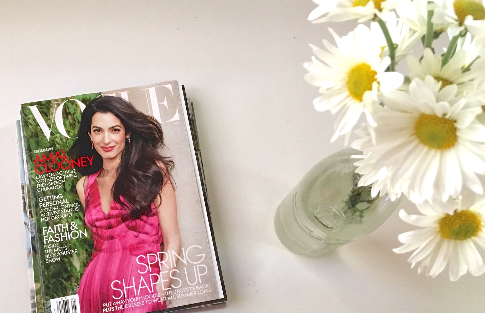 PopsugarFashionAmal ClooneyWhy Amal Clooney's Vogue Cover Really MattersWhy Amal Clooney's Vogue Cover Really MattersMay 12, 2018 by Michelle Chahine Sinno41 SharesChat with us on Facebook Messenger. Learn what's trending across POPSUGAR.Vogue's May 2018 issue features Amal Clooney on the cover. As a Lebanese-American woman, I find this worth noting for many reasons. First, a Lebanese woman is on the cover of a major global magazine, being profiled in a positive way as someone to look up to. Second, a woman other than an actress or a model is being highlighted, and thus a career route other than one in the movies or fashion is being celebrated — young girls pay attention to these things. Third, a different kind of beauty is being represented on a large scale.I didn't truly understand how important the last was until I experienced the soft, subtle ways we react to our surroundings and behave based on what we are exposed to.Two Springs ago, I wanted a change. I wanted to feel different, look different, be dif - 웹