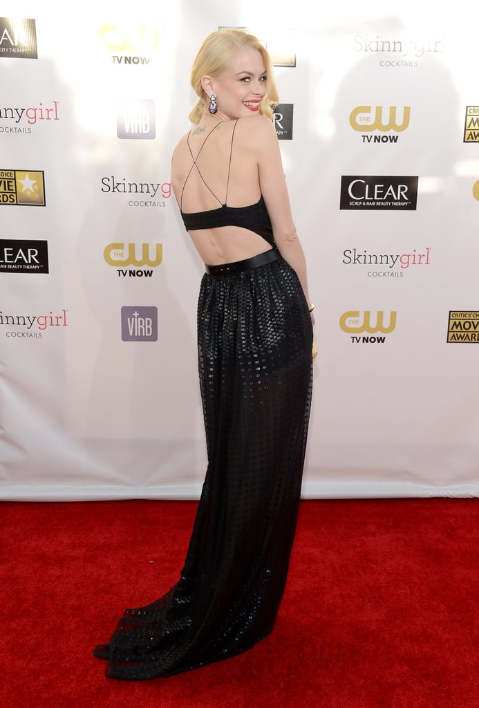 Jaime King revealed a sexy back cutout on her Jason Wu gown.