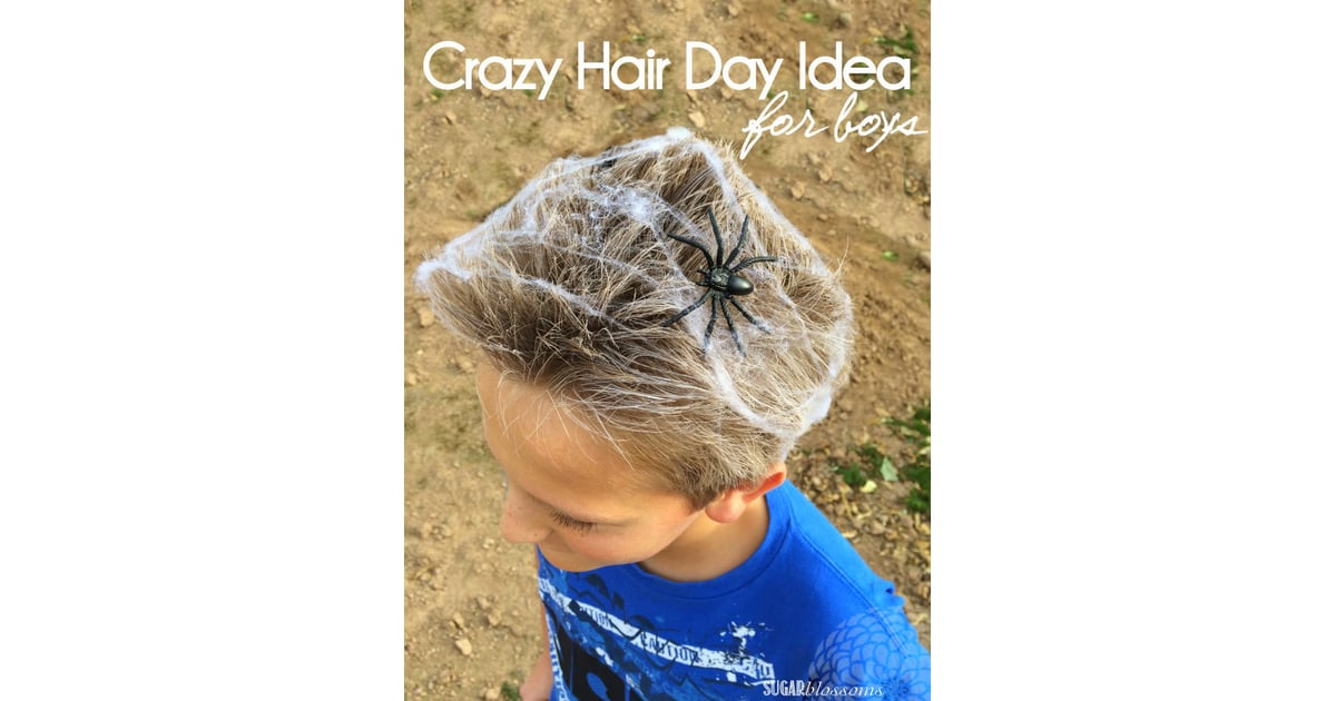 A Creepy Spider Web | Crazy Hair Day Ideas Your Kids Will ...