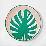 "10.4"" Plastic Palm-Leaf Dinner Plate"