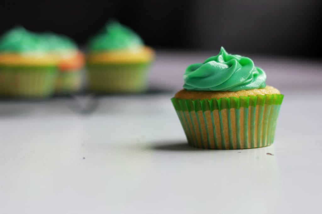 Green Cupcake Zoom Background