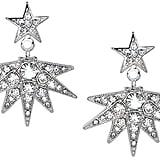 Kenneth Jay Lane Rhinestone Crystal Starburst Drop Clip Earring