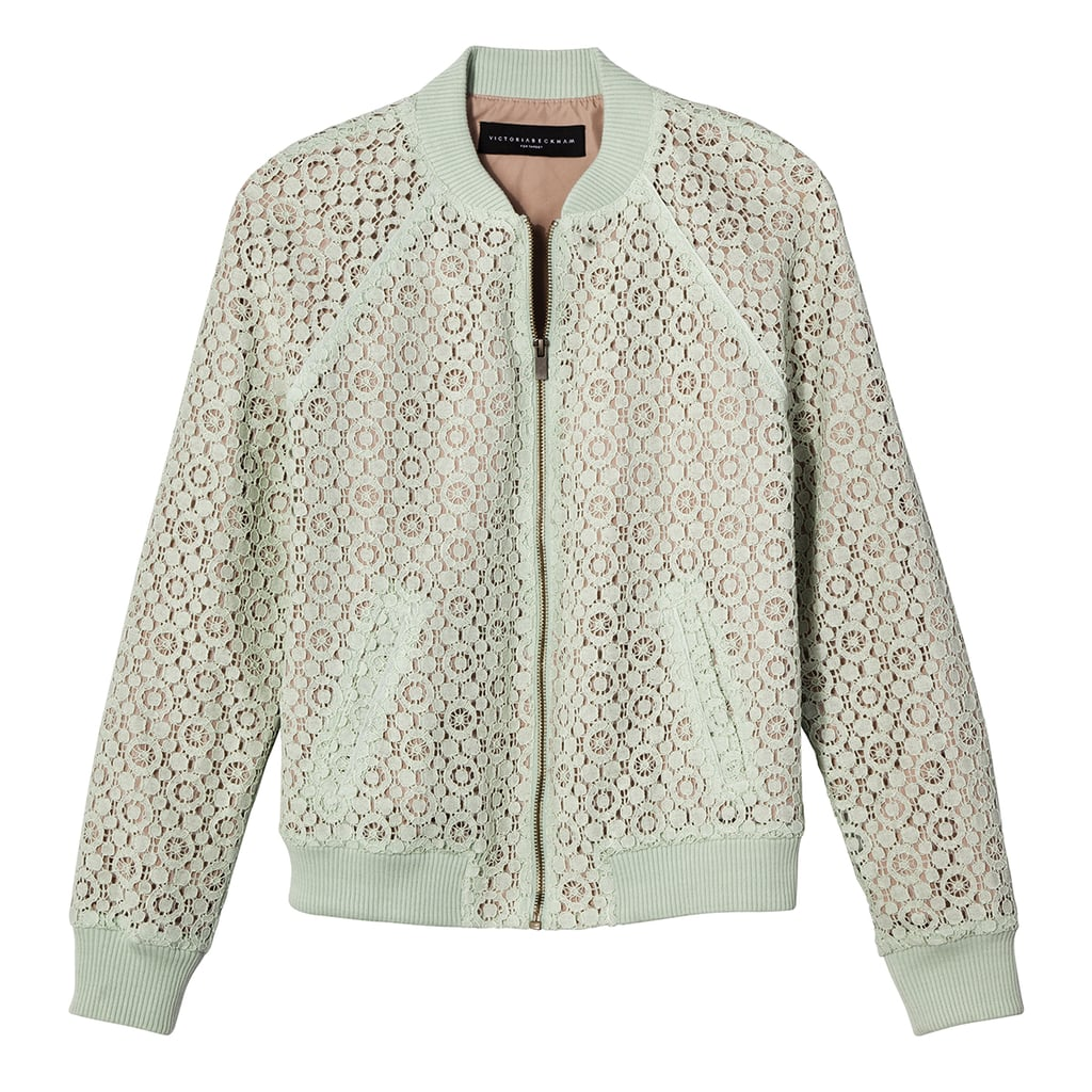 Mint Green Lace Bomber Jacket ($35)