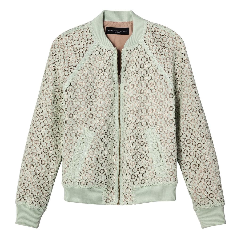 Mint Green Lace Bomber Jacket ($35)