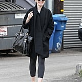Lily Collins was back in black for her Friday in LA.
