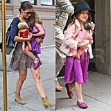 Katie Holmes and Suri Cruise Pictures Leaving Their NYC Home
