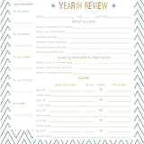 Year-in-Review Resolutions Printable