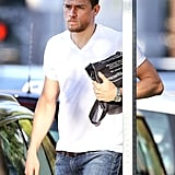 Charlie Hunnam Leaving the Gym in LA July 2016