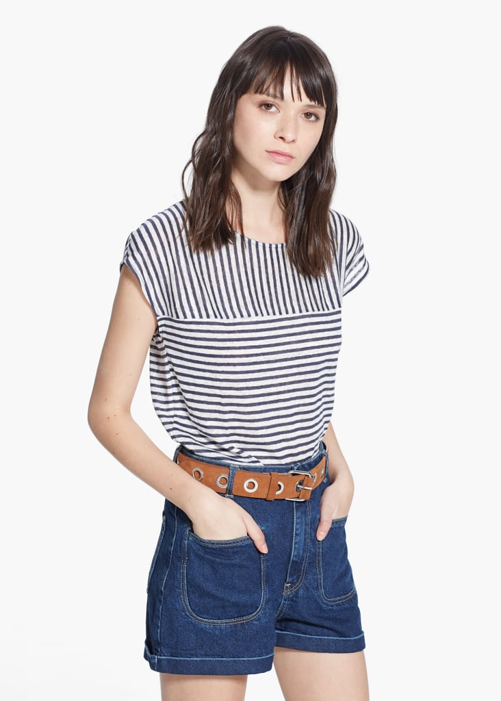 Mango Striped Linen T-Shirt ($40)