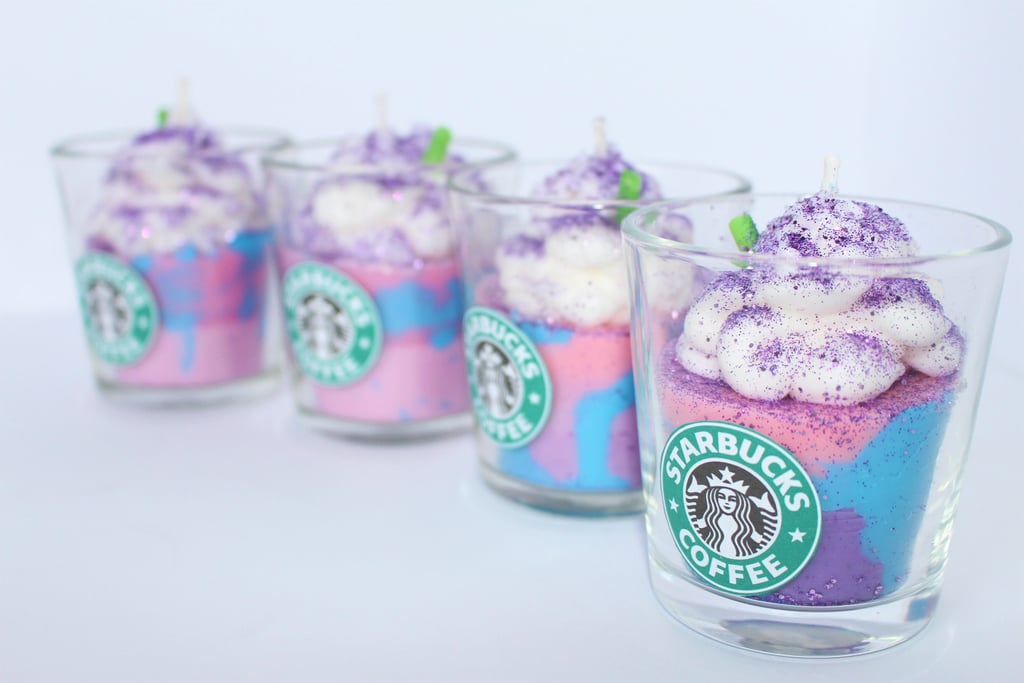Starbucks Unicorn Frappuccino Candle — Small ($13)
